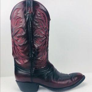 Tony Lama Vintage Cherry Cowboy Western Boots